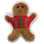 View Image 1 of Zanies Ginger Buddies Dog Toy - Candy Cane