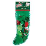 View Image 1 of Zanies Holiday Cat Toy Stocking - Green