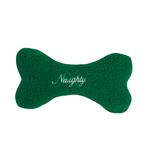 View Image 2 of Zanies Naughty & Nice Berber Bone Toy - Green