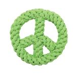 View Image 1 of Zanies Peace Sign Rope Toy - Parrot Green