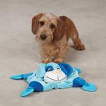 View Image 1 of Zanies Puppy Snuggler Toy - Blue