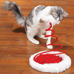 View Image 1 of Zanies Santa Claus Paws Holiday Hat Cat Toy
