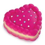 View Image 2 of Zanies Sugar Pie Heart Toy - Raspberry