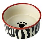 View Image 1 of Zebra Buzz Dog Bowl