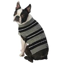 Ziggy's Striped Dog Sweater - Gray/Black