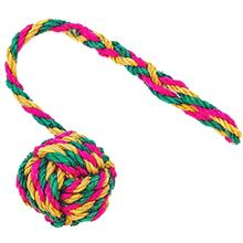 ABACA-DABRA Ball on Rope Dog Toy from WaLk-e-Woo