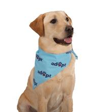 Adopt Dog Bandana - Blue