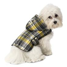 Alberta Quilted Dog Parka - Cornsilk Plaid