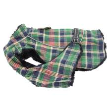 Alpine All-Weather Dog Coat - Flannel Hunter Green and Navy Blue Plaid