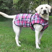 Alpine Flannel Dog Coat - Raspberry Pink and Turquoise Plaid