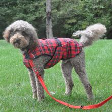 Alpine Flannel Dog Coat - Red and Green Plaid