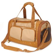 Amelia Collection Dog Carrier - Sand w/ Tan Trim