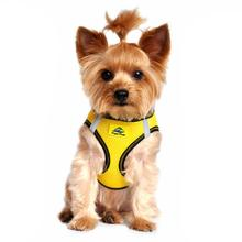 American River Top Stitch Dog Harness - Vibrant Yellow
