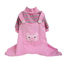 Animal Overalls Dog Pajamas - Pig