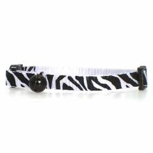 Animal Print Cat Collar - Zebra