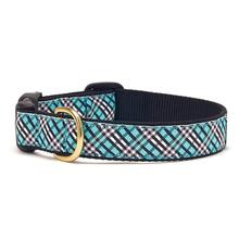 Aqua Plaid Dog Collar by Up Country