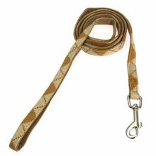 Argyle Mode Dog Leash by Puppia - Beige