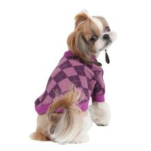 Argyle Mode Dog Sweatshirt by Puppia - Purple