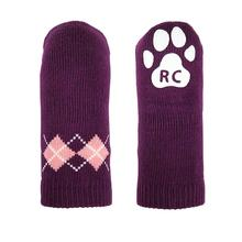 Argyle PAWKS Dog Socks - Grape