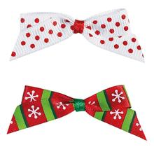 Aria Candy Cane Dog Bows