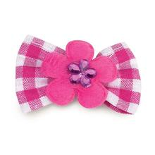 Aria Gingham Dog Bows