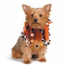 Aria Pumpkin and Pompoms Dog Scrunchy