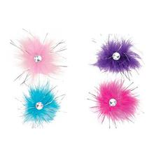 Aria Sparkle Feather Dog Bows