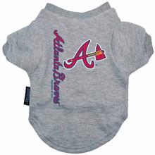 Atlanta Braves Dog T-Shirt - Gray