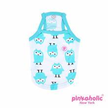 Baby Owl Dog Tank by Pinkaholic - Aqua