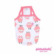 Baby Owl Dog Tank by Pinkaholic - Indian Pink