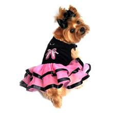 Ballerina Slippers Tutu Embroidered Dog Dress