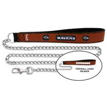 Baltimore Ravens Leather Dog Leash