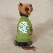Bark If You Love The Planet Dog T-Shirt - Green