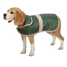 Barn Dog Coat with Contrast Trim - Hunter Green