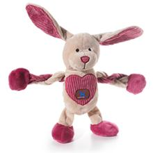 Be-Mine Bunny Pulleez Dog Toy