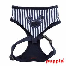 Beach Party Adjustable Dog Harness by Puppia - Navy with Hood