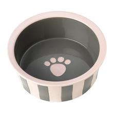 Bella's Striped Dog Bowl