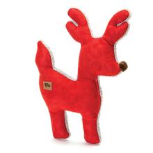 Big Sky Reindeer Holiday Dog Toy - Crimson