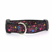 Black Stars Dog Collar