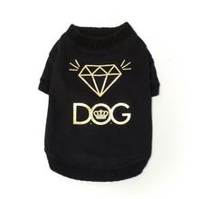 Bling Diamond Dog T-Shirt - Black