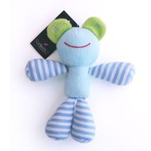 Blue Frog Striped Limb Dog Toy