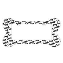 Bone Shaped License Plate Frame - Dog Lover