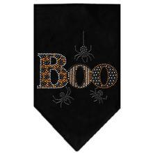 Boo Rhinestone Dog Bandana - Black