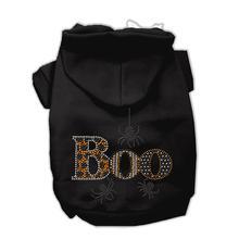 Boo Rhinestone Dog Hoodie - Black