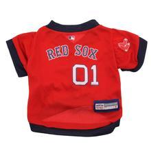 Boston Red Sox Baseball Dog Jersey - Navy Trim
