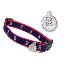 Boston Red Sox Woven Ribbon Dog Collar