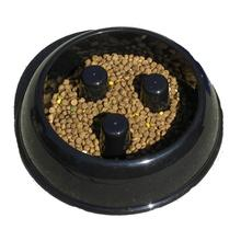 Brake-Fast Slow Chow Dog Bowl - Black Plastic