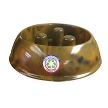 Brake-Fast Slow Chow Dog Bowl - Brown Swirl Plastic