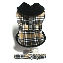 Brown Plaid Dog Coat Set