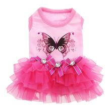 Butterfly Party Dog Dress - Pink